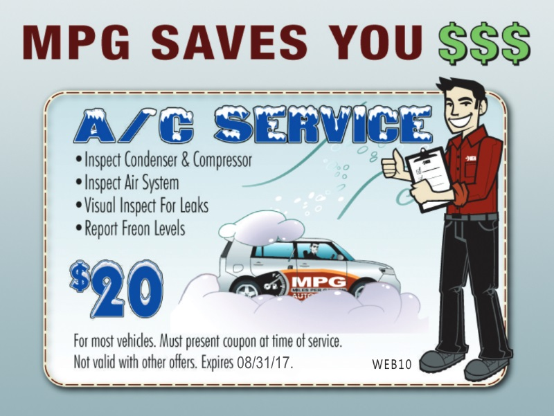 Automotive Maintenance Service A/C Service Coupon